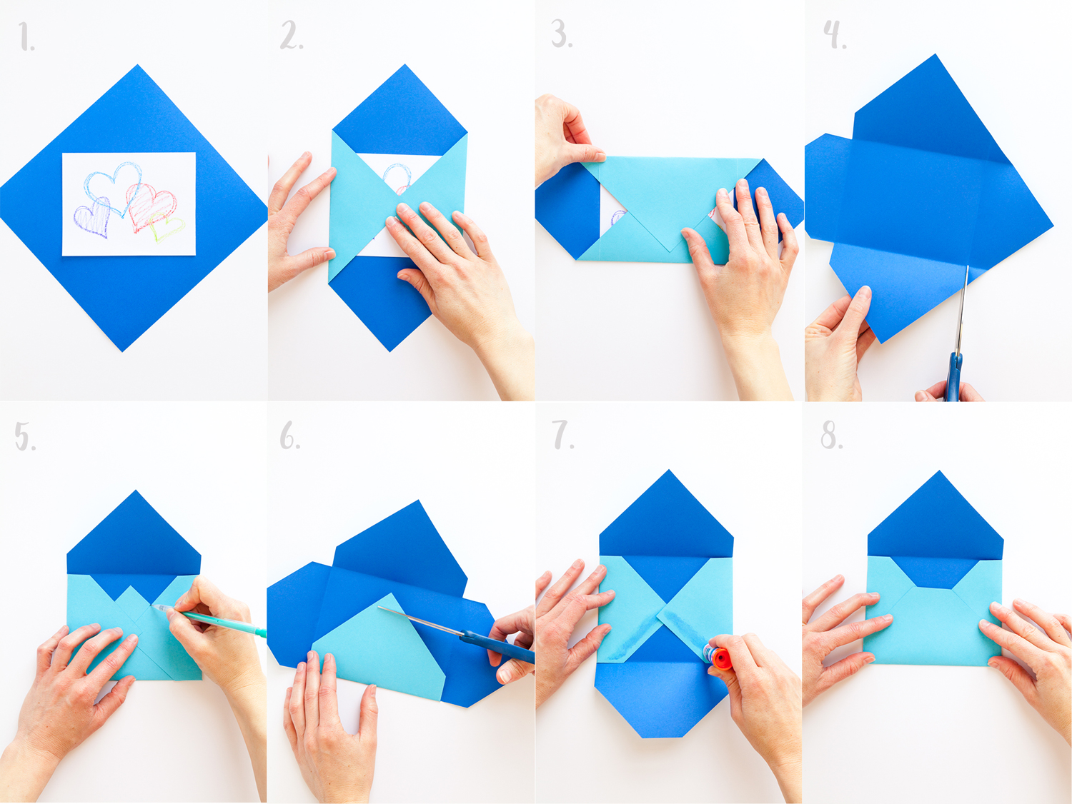 DIY - Easy origami envelope tutorial - YouTube | 1126x1500