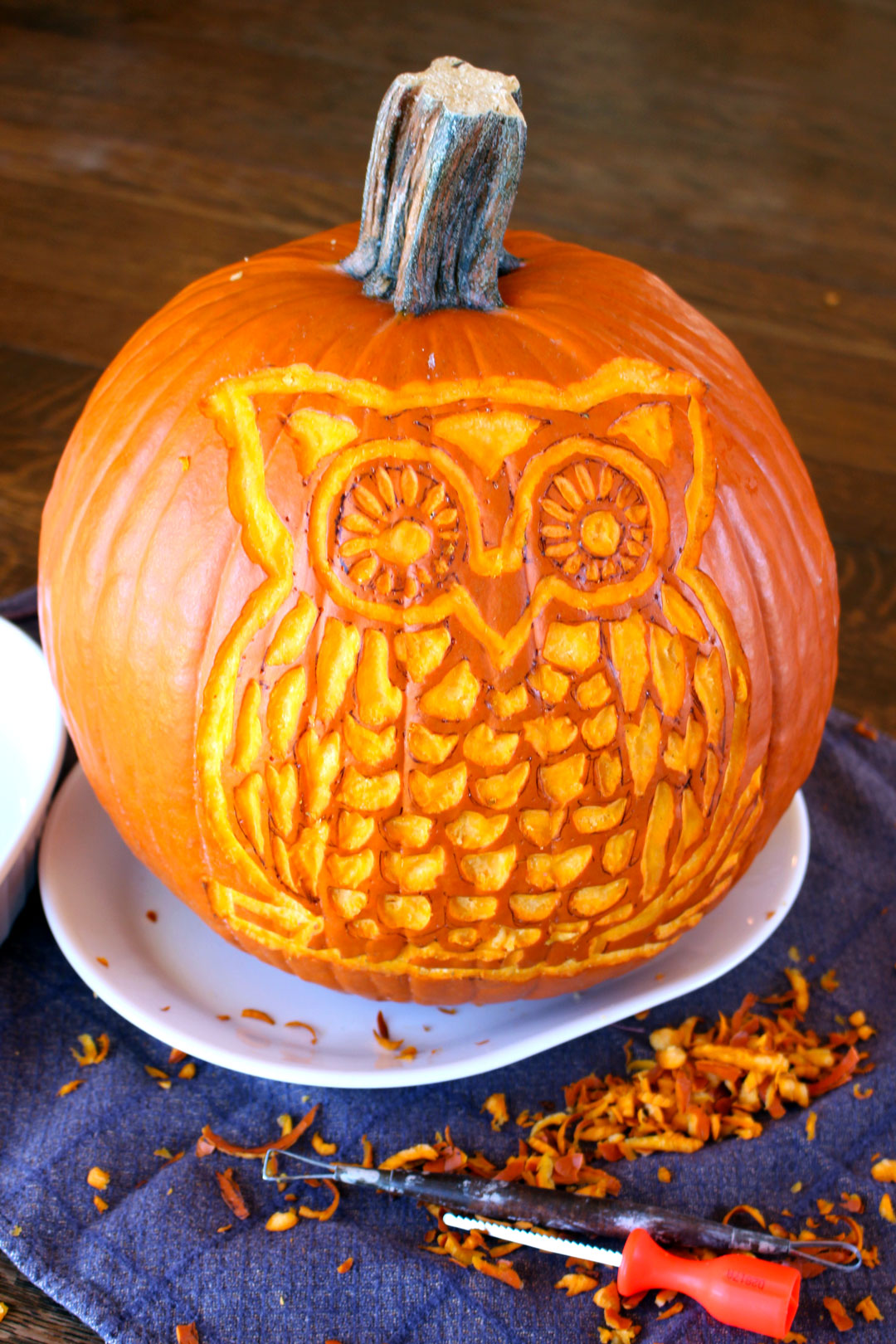 Woodland owl pumpkin carving deluxe welcome to nana s