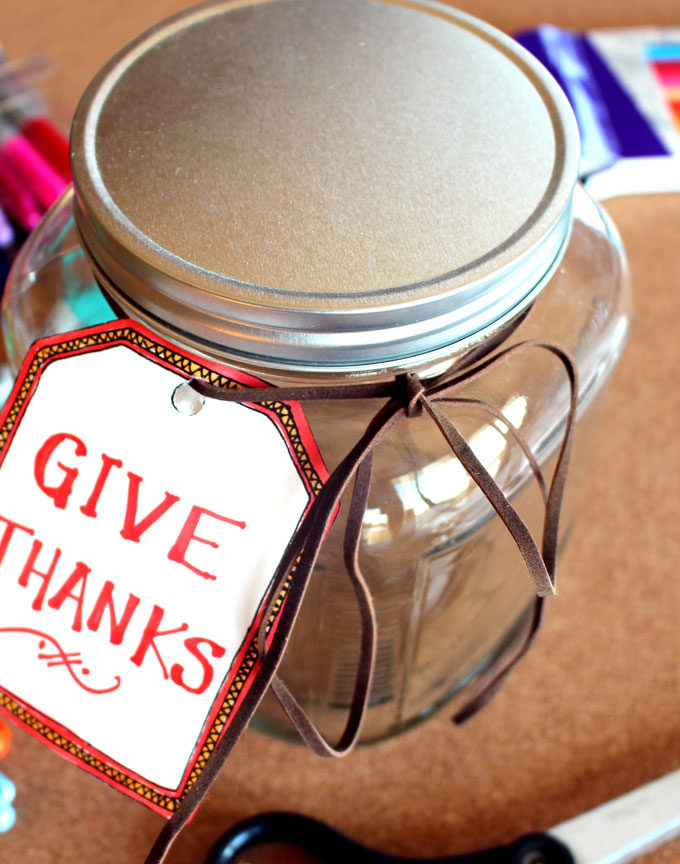 Make a Count Your Blessings Gratitude Jar For November