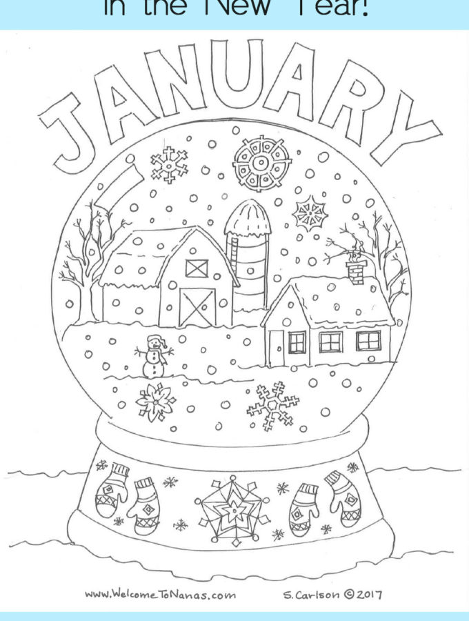 Happy Holidays: A Coloring Page for You and the Grands!