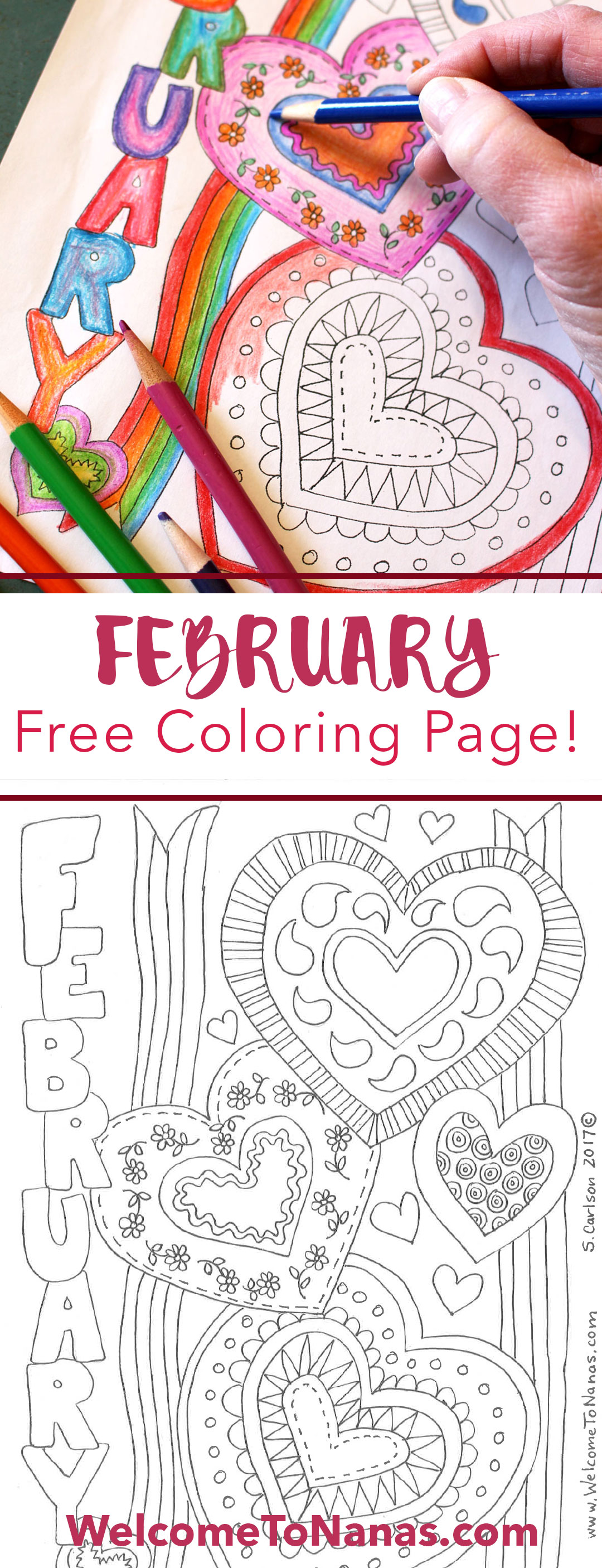 Fabulous February Coloring Page - Welcome To Nana\'s