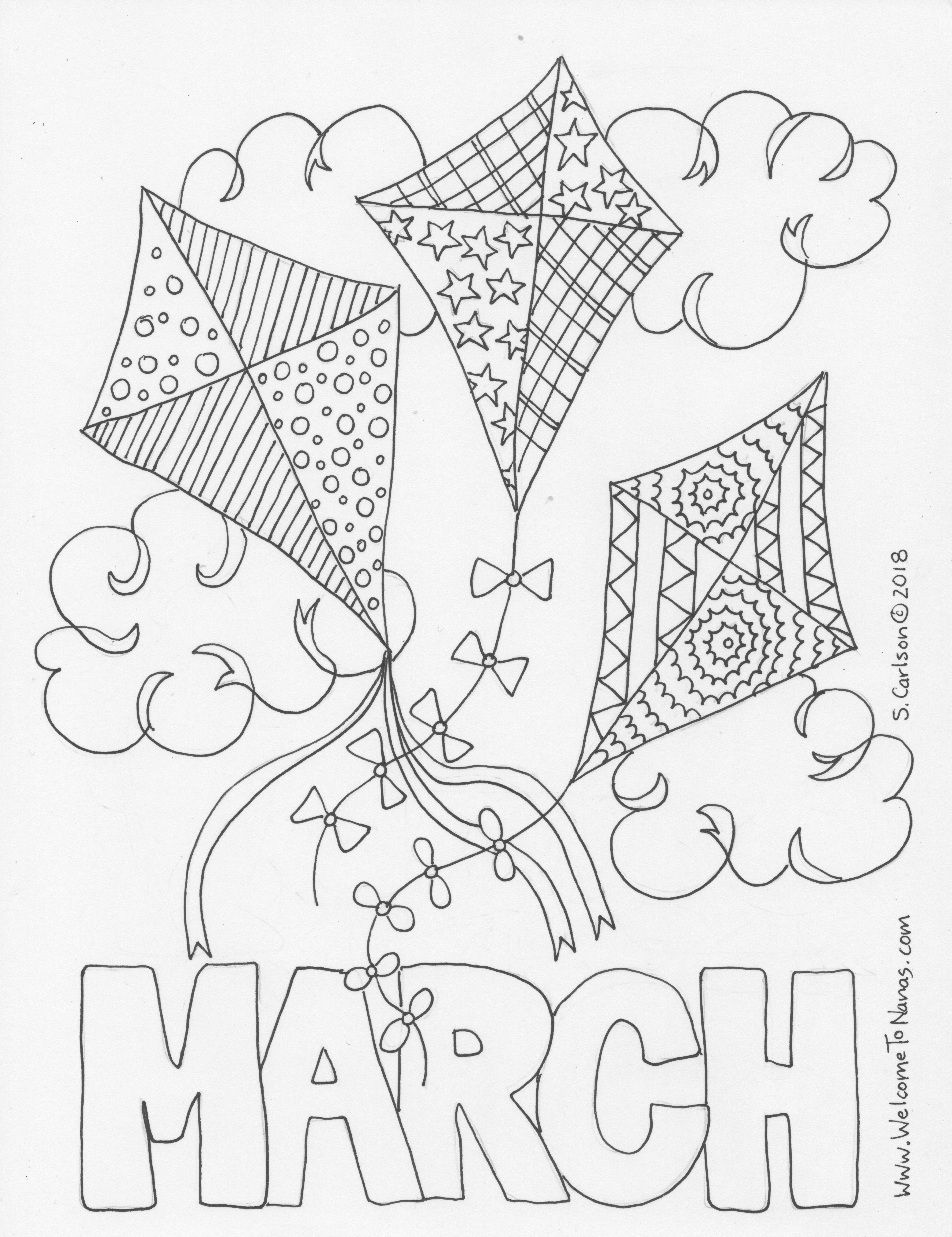 March Coloring Page - Welcome To Nana\'s