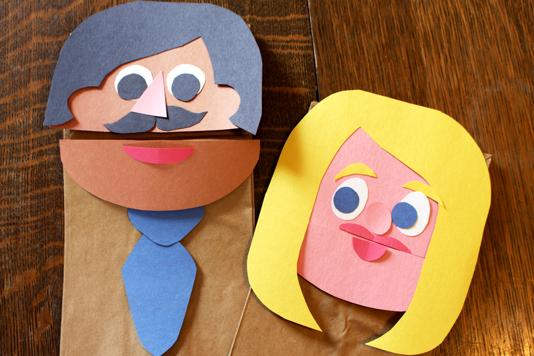 paper bag puppet person images galleries with a bite. Black Bedroom Furniture Sets. Home Design Ideas