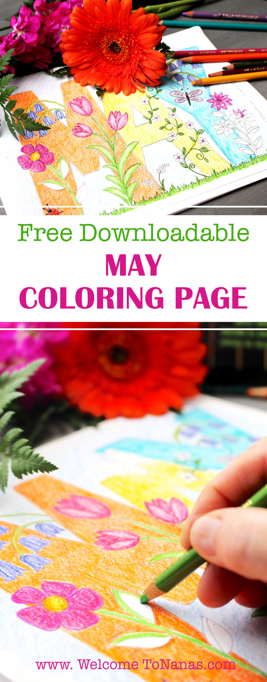 Free Merry Month of May Coloring Page - Welcome To Nana\'s