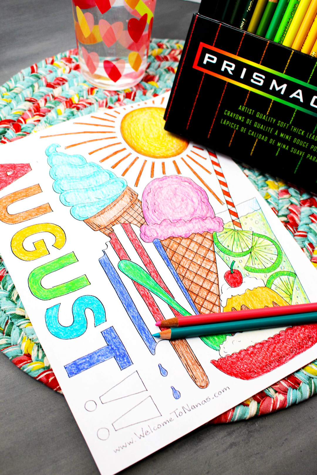 We All Scream For Ice Cream August Coloring Page
