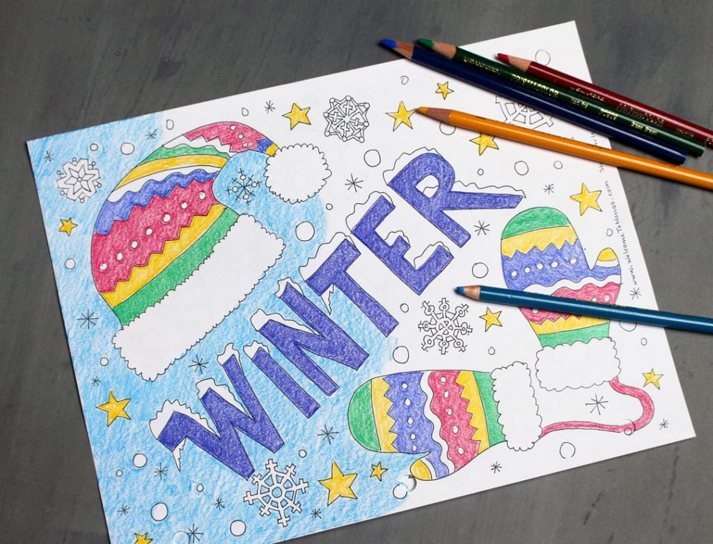 Winter Season Free Coloring Page - Welcome To Nana's