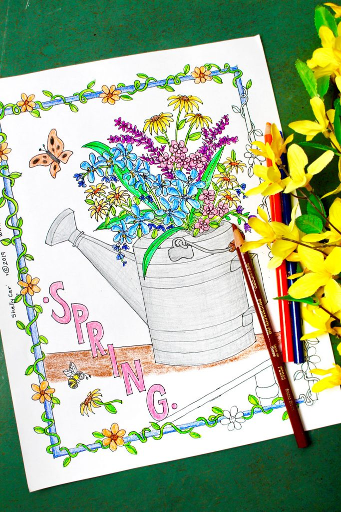 9tzx6mlrc Freeable Spring Flowers Coloring Pages Download Flower ... | 1024x683